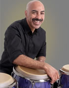 American Idol percussionist Kevin Ricard in NBC\'s Tonight Show band along with drummer Glendon \