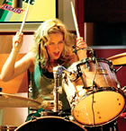 After struggling with a painful shoulder injury for the past two years, Torry Castellano, also known as Donna C, has quit The Donnas and retired from drumming altogether due to a chronic form of tendonitis