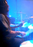 Borknagar drummer Dave Kinkade, who currently resides in Norway, has filmed and uploaded drum-cam footage of Gene Hoglan (Fear Factory, Dethklok) performing with Forbidden this past Thursday night (April 21) at the Inferno festival in Oslo, Norway