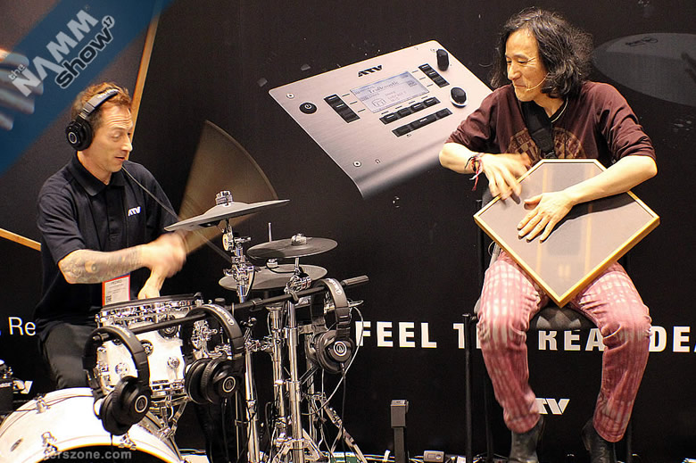 aFrame percussion jam at NAMM 2017 - ATV's Electro-Organic Percussion and drum demo