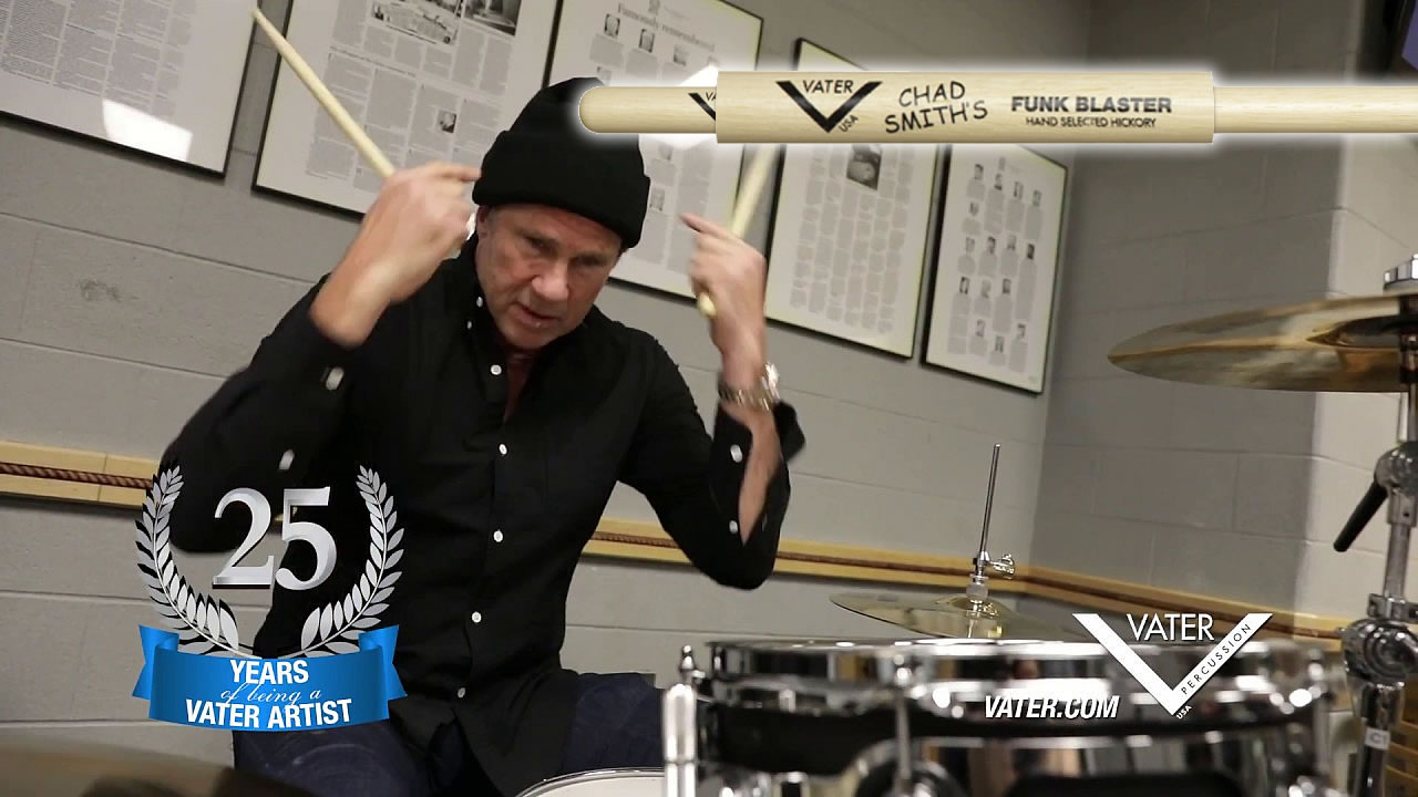 Chad Smith video 25 years with Vater - Funk Blaster model still the Peppers\' drummer favourite