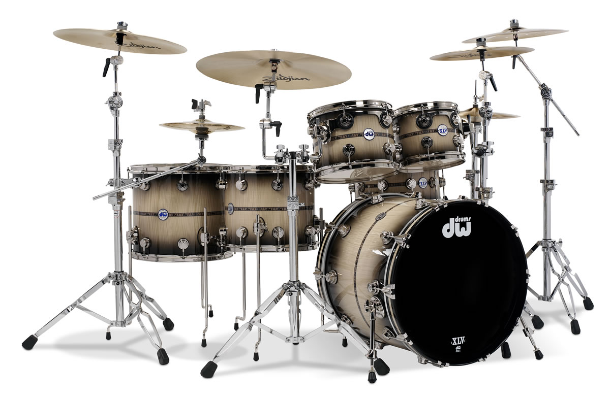 Drummerszone nouvelles dw drums 45th anniversary kit for Newspaper wallpaper for sale