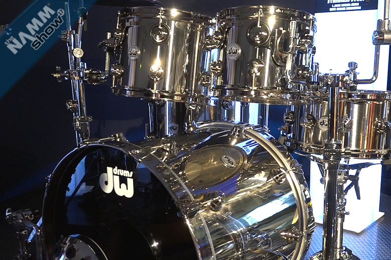 DW Drums' first full Stainless Steel drum kit