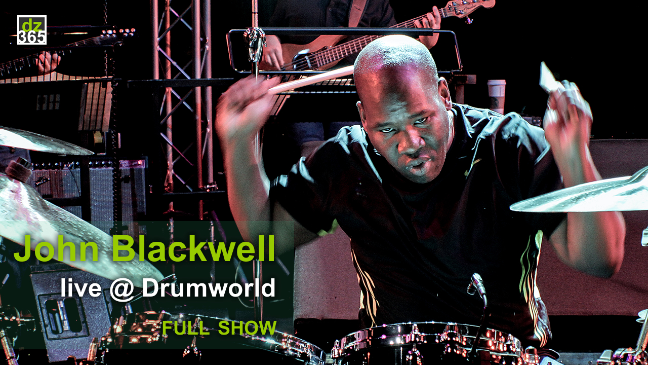 John Blackwell Jr. videos Adams Drumworld Festival - A full drum show of Prince\'s New Power Generation drummer