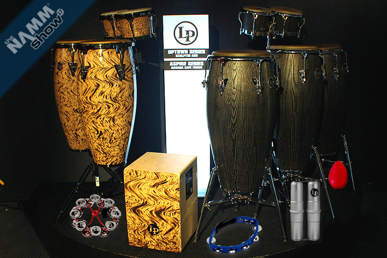 Latin Percussion Havana Caf� Congas, Bongo & Cajon, Uptown Series Sculpted Ash and accessories