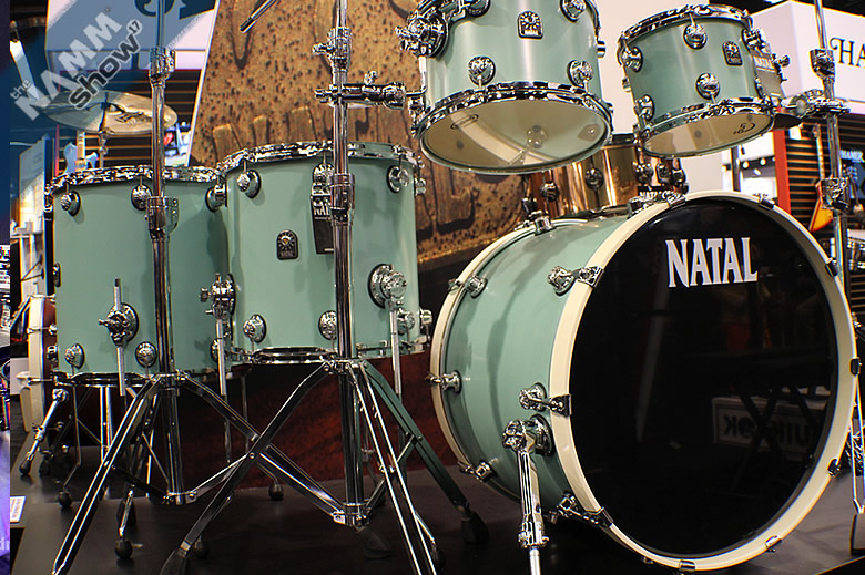 Natal Drums demo videos from NAMM 2017 - With the Meta snares, Caf� Racer drums and DNA starter kits