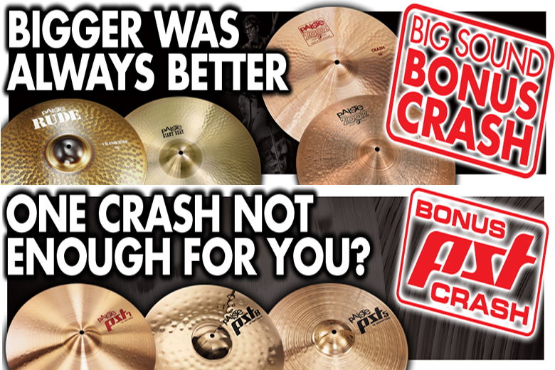 Attention drummers and percussionists: Paiste, renown Swiss manufacturer of high quality handmade cymbals and gongs, is currently offering two box set promotions. But be quick, because these special deals are only available for a limited time.