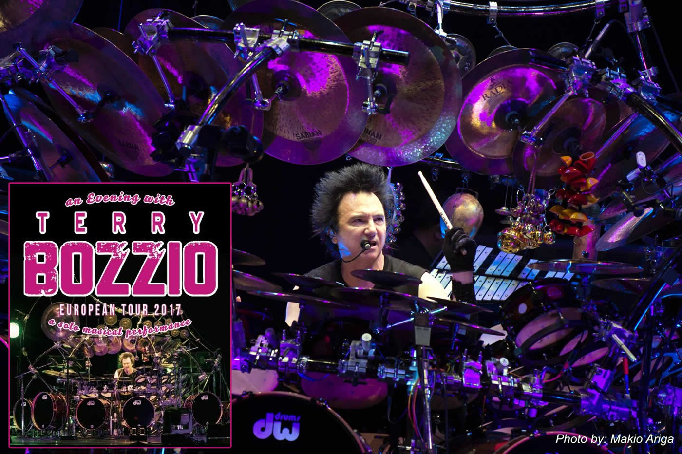 Terry Bozzio\'s 2017 European Solo Tour
