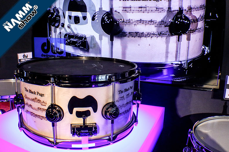 The Black Page Terry Bozzio Icon Snare Drum from DW on video