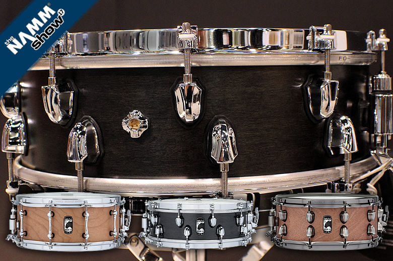 The Mapex Equinox, Heartbreaker and Cherry Bomb snare drums - New Concept Hybrid design improves sound and performance