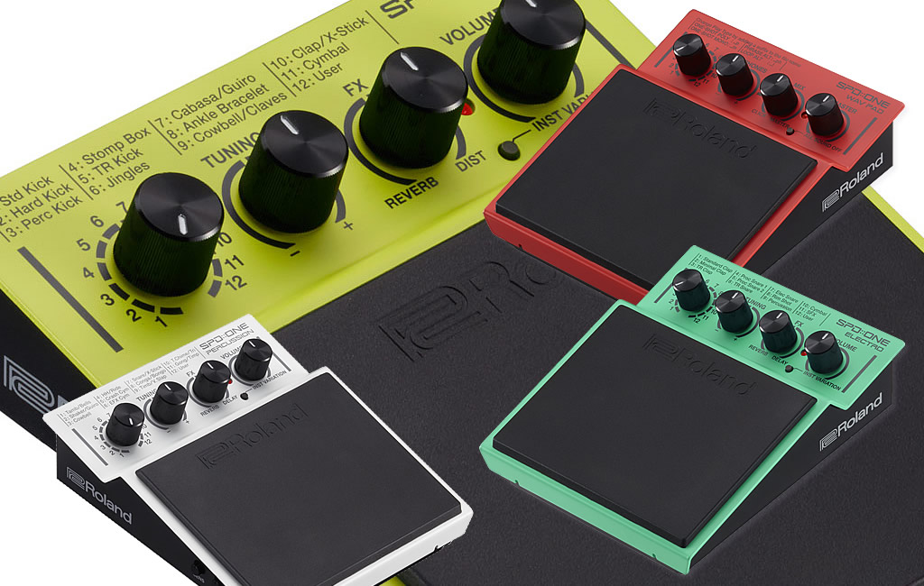 The Roland SPD::ONE Percussion Pad Series - Four new Digital Percussion Pads for musicians