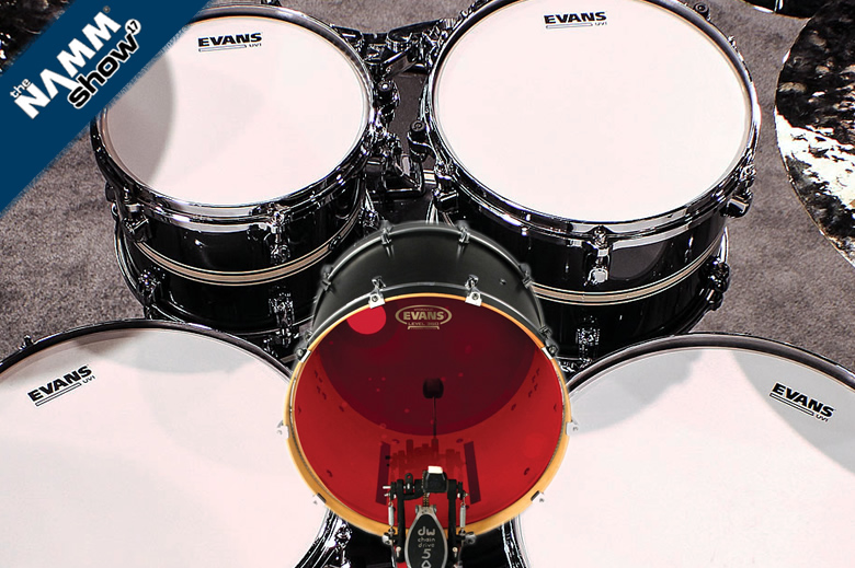 Videos Evans UV-1, Hydraulic Red and '56 Calftone drumheads