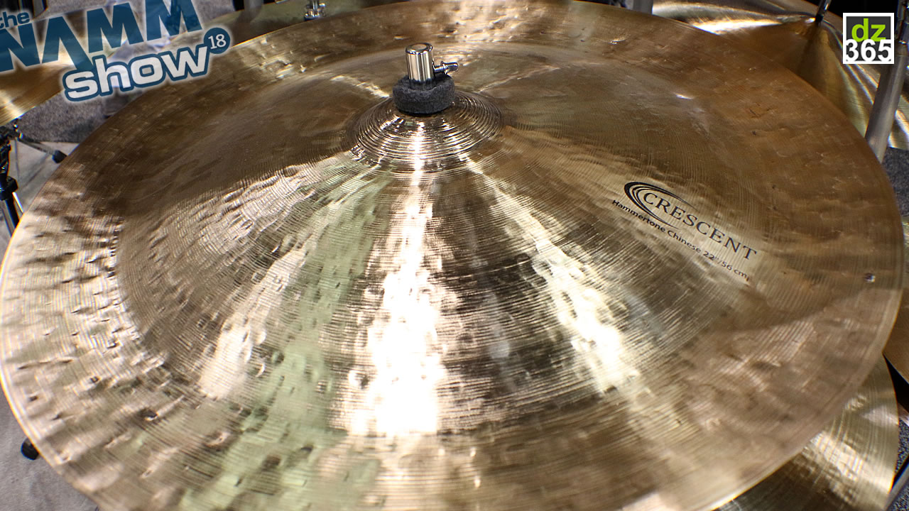 Crescent cymbals at Winter NAMM 2018 - Jeff Hamilton's Hammertones and much more