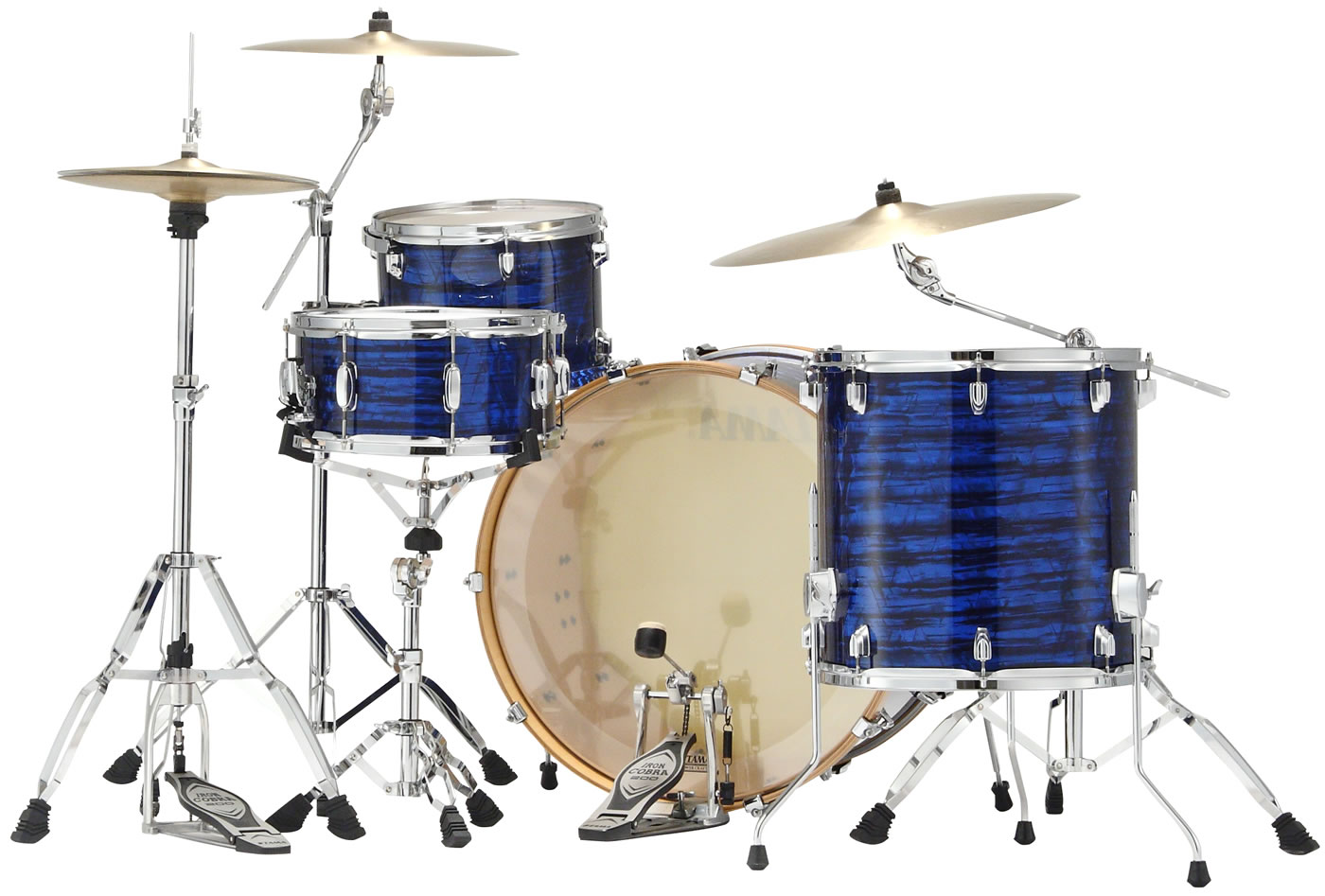 Superstar Classic Maple Blue Onyx Wrap 4-piece shell kit