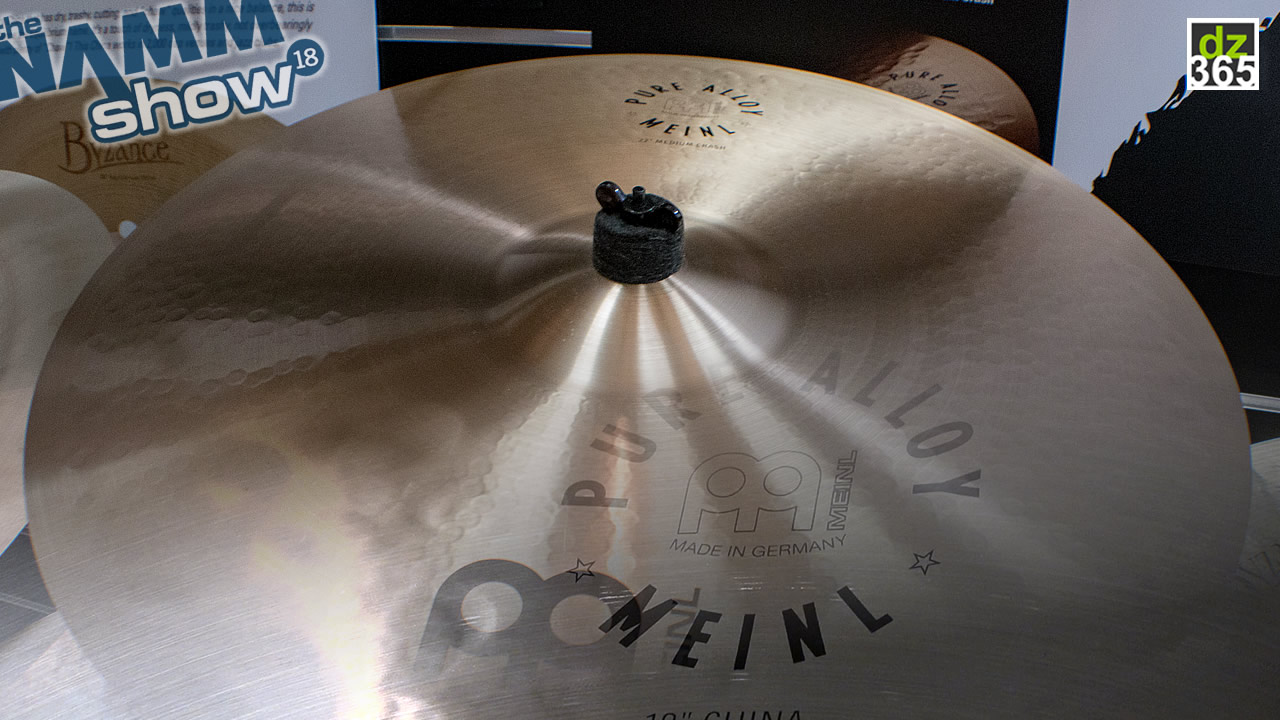 Meinl Cymbals Pure Alloy video demos - The Orlando Drummer shows new Crash, China and Splash