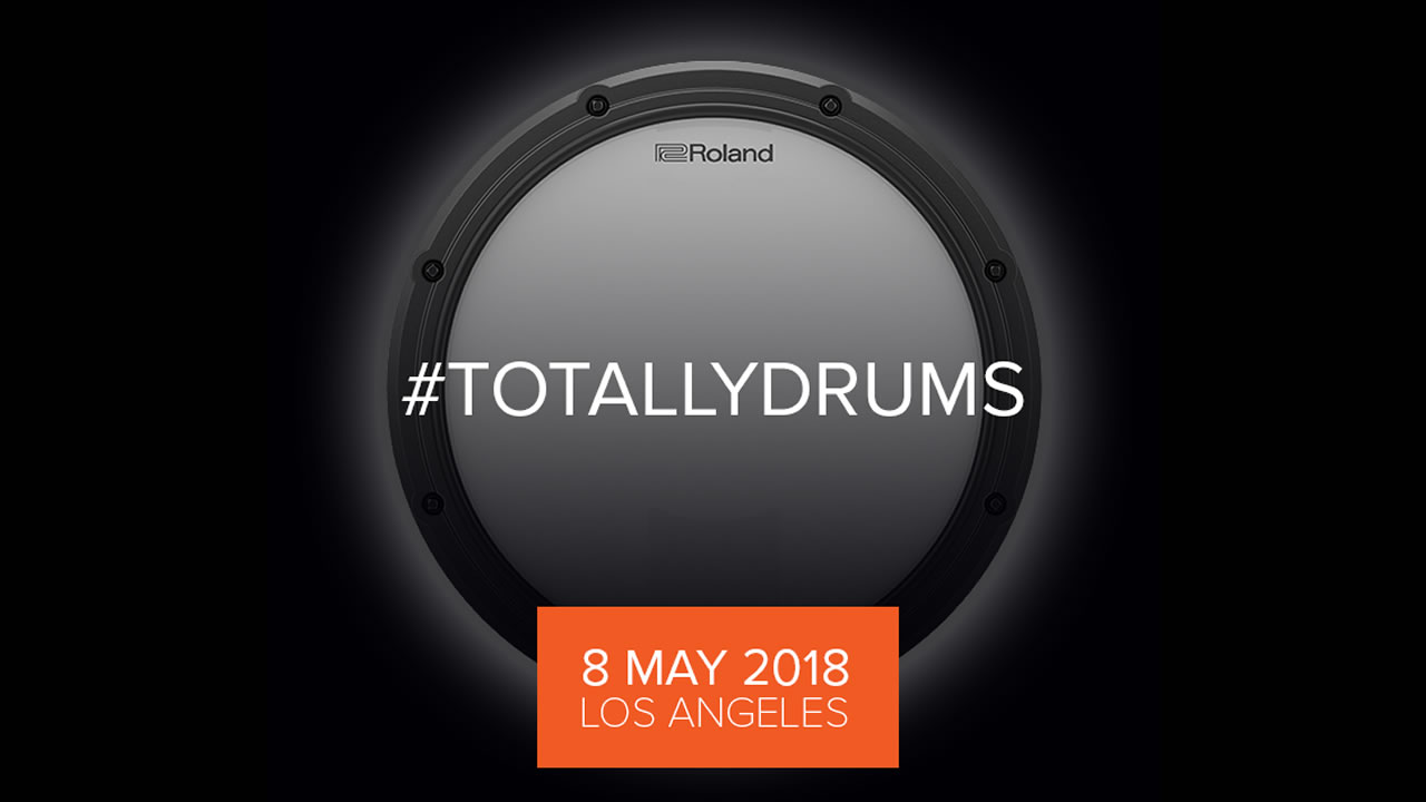 Roland Live with #TotallyDrums Event on May 8th - New V-Drums instruments to be streamed on Facebook