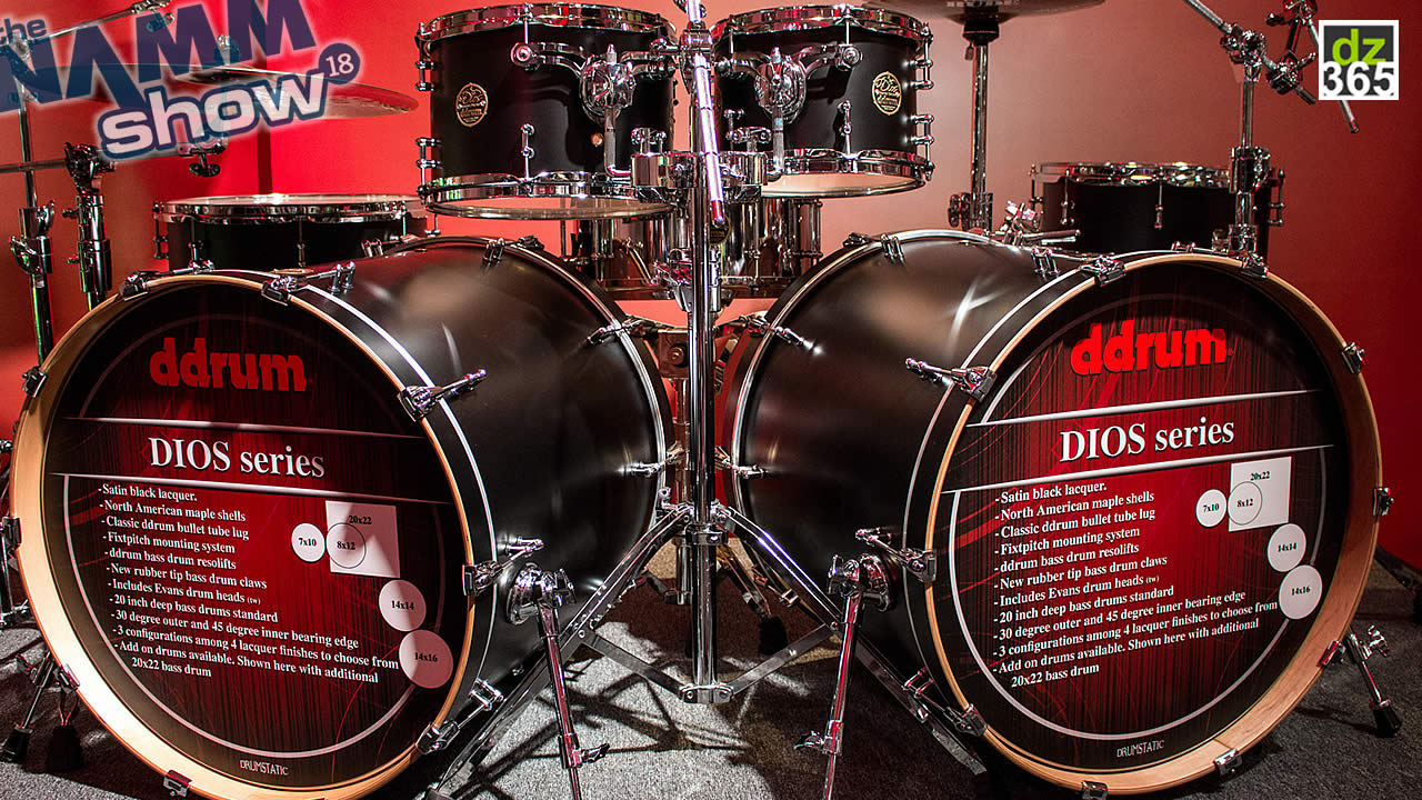The ddrum DIOS Series are back - A video tour from the NAMM Show floor