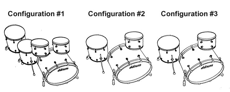 The ddrum DIOS Series configurations