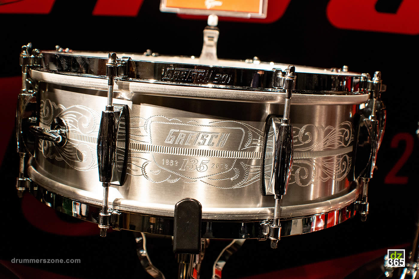 The Gretsch 135th anniversary commemorative snare drum