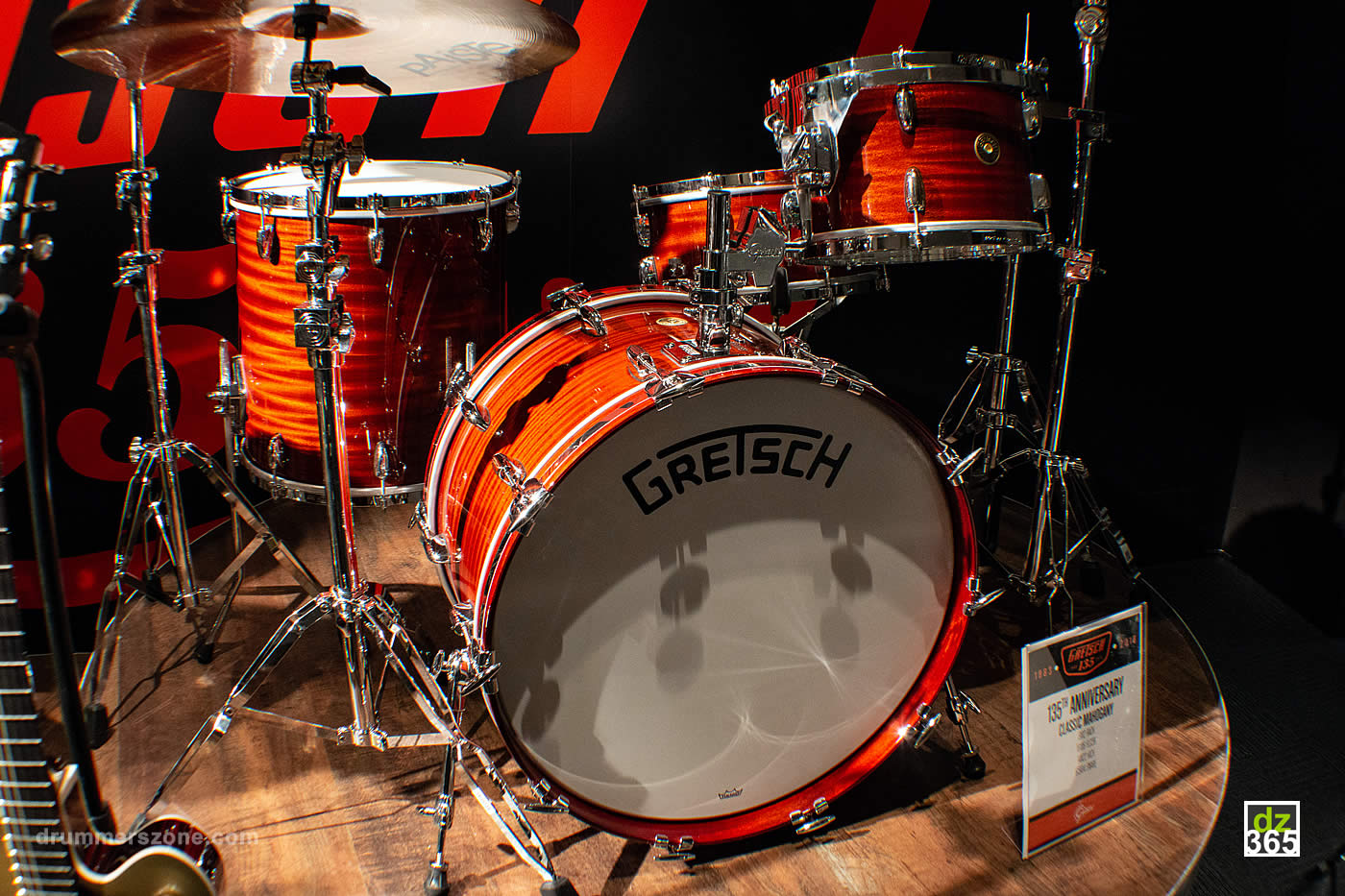 The Classic Mahogany Gretsch 135th anniversary kit