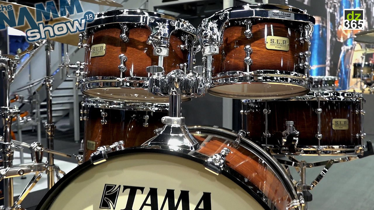 The Tama S.L.P. Dynamic Kapur Drum Kit in detail - First video of the 3 new Tama S.L.P. drum sets