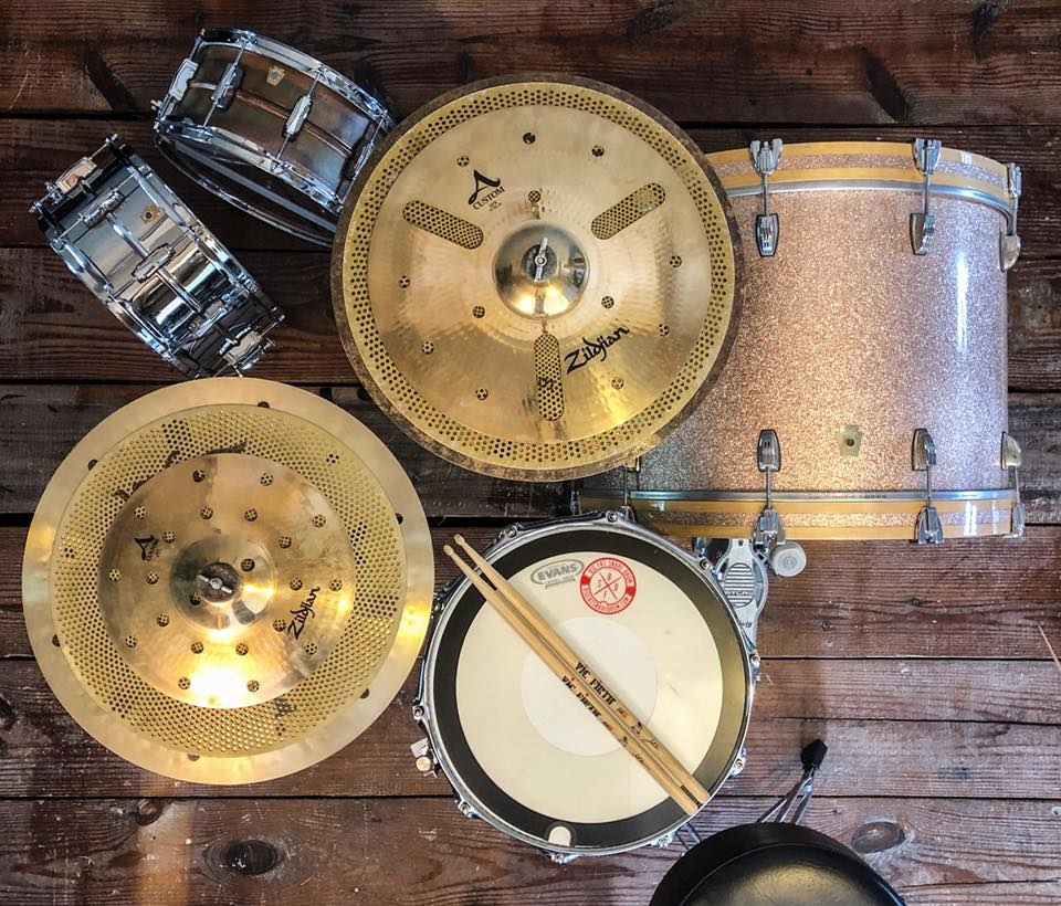 Jonathan Ulman's Sunday Zildjian Stack with Low Volume cymbals