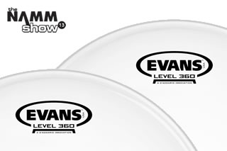 drummerszone news evans drumheads launch level 360 at namm 2013. Black Bedroom Furniture Sets. Home Design Ideas