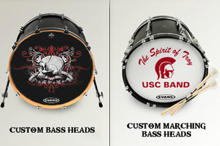 Drummerszone news - Create custom marching bass heads with Evans