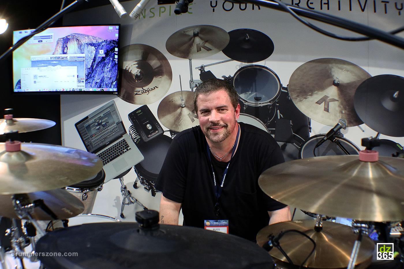 Drummerszone news - Russ Miller demos NFUZD NSPIRE at NAMM 2017