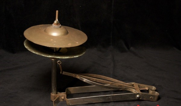 An old Low Boy Hi-Hat, as inspiration for the DW 5000 Low Boy Hi-Hat