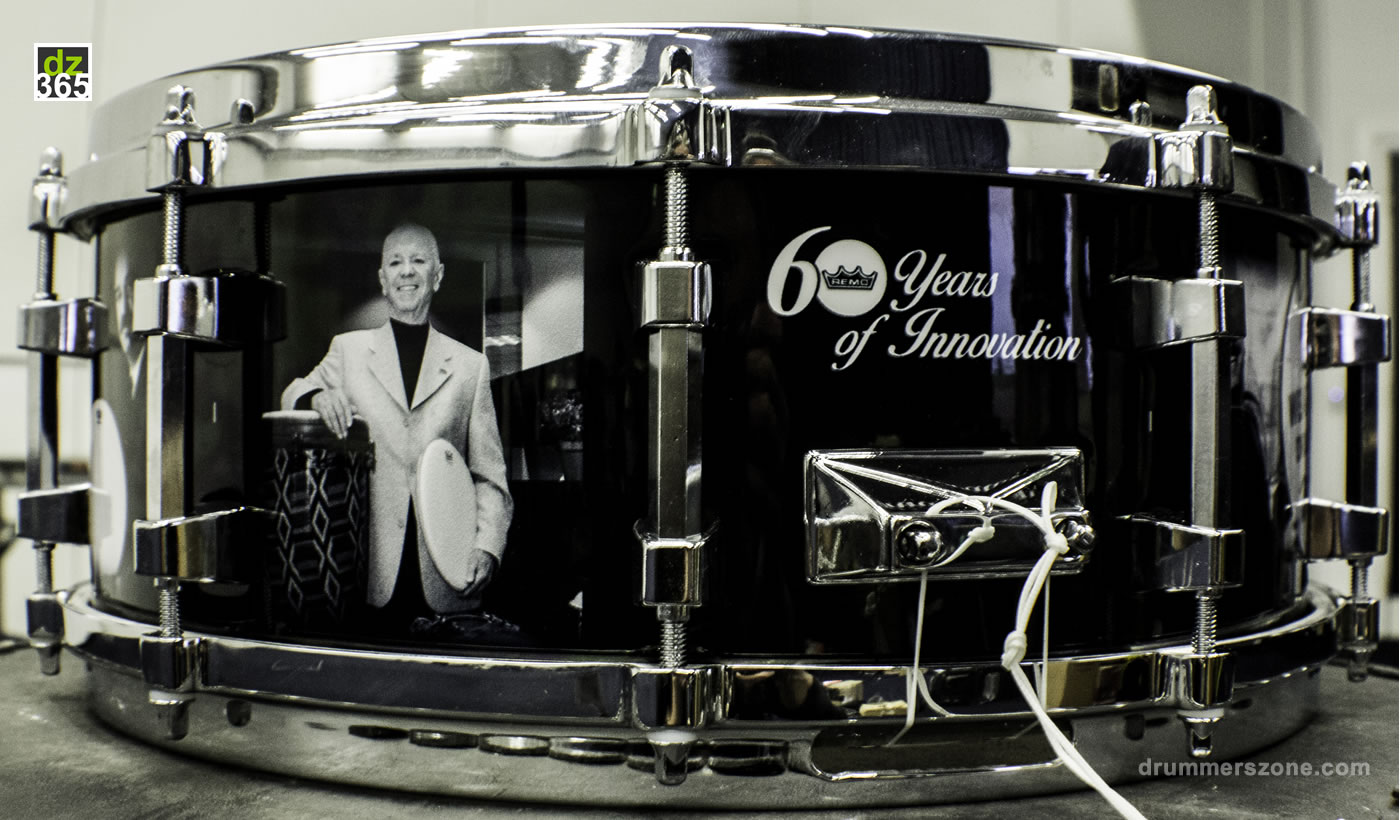 The Remo D. Belli Signature snare drum - One of a kind auctioned at Remo Drummer Night 2017