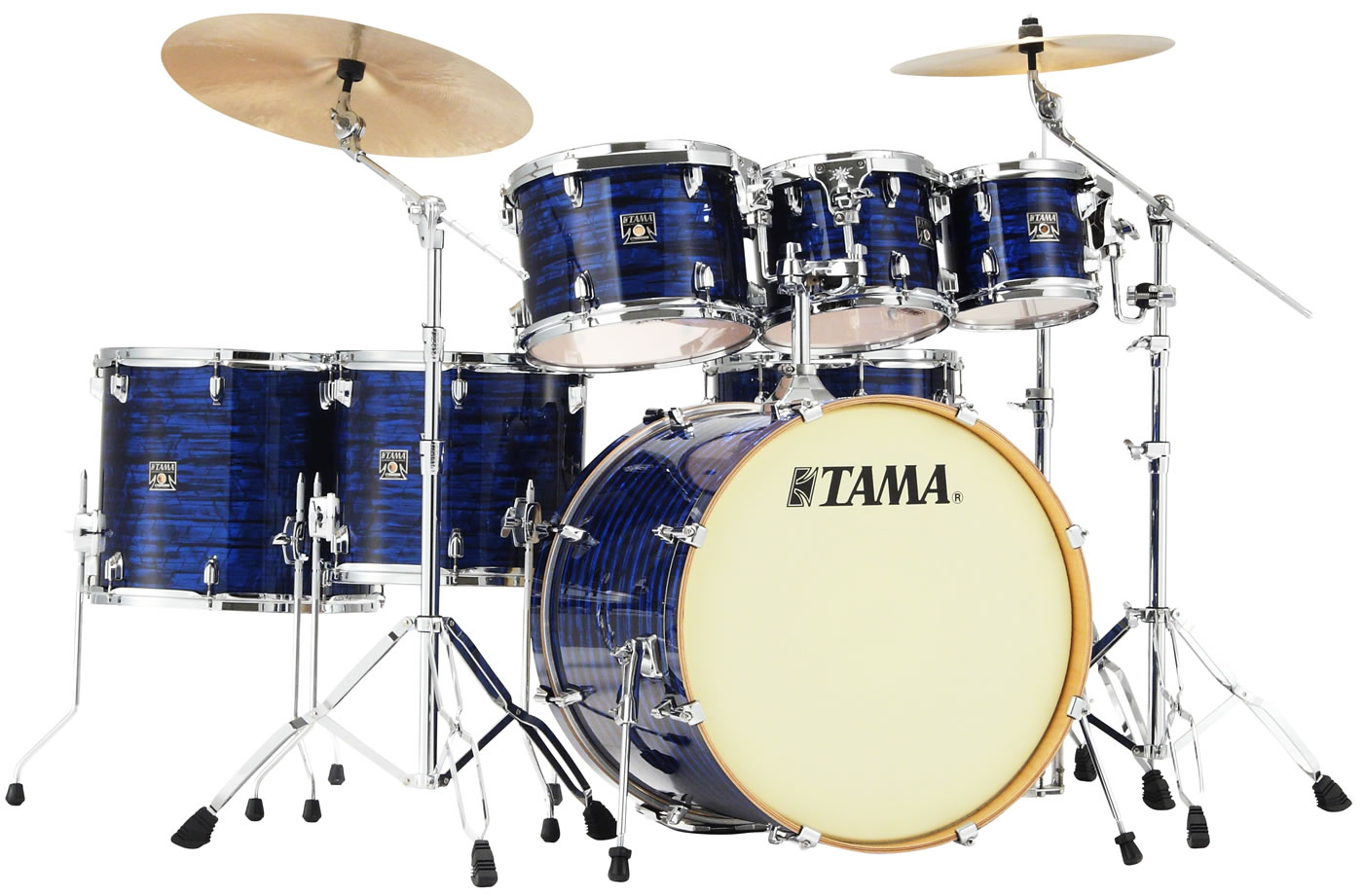 Superstar Classic Maple Blue Onyx Wrap 7-piece shell kit