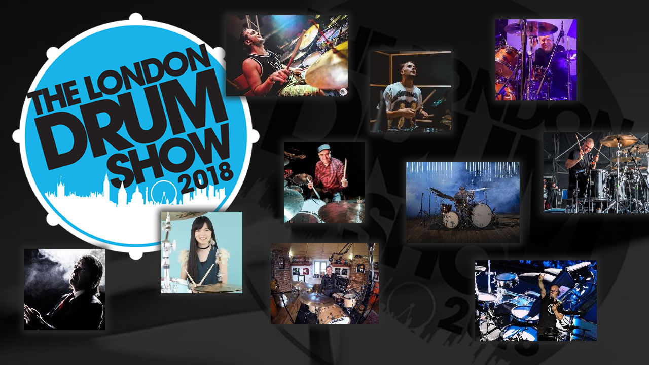 Line-up London Drum Show 2018 with Ash Soan, JR Robinson and many more