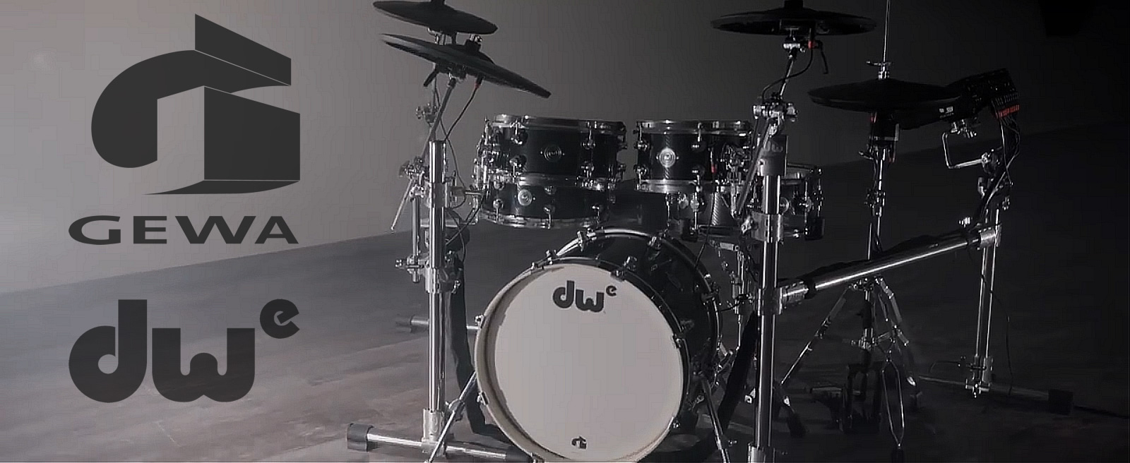 DWe Electronic Drums - by Drum Workshop and Gewa Music - Completely new e-drums with acoustic configurations