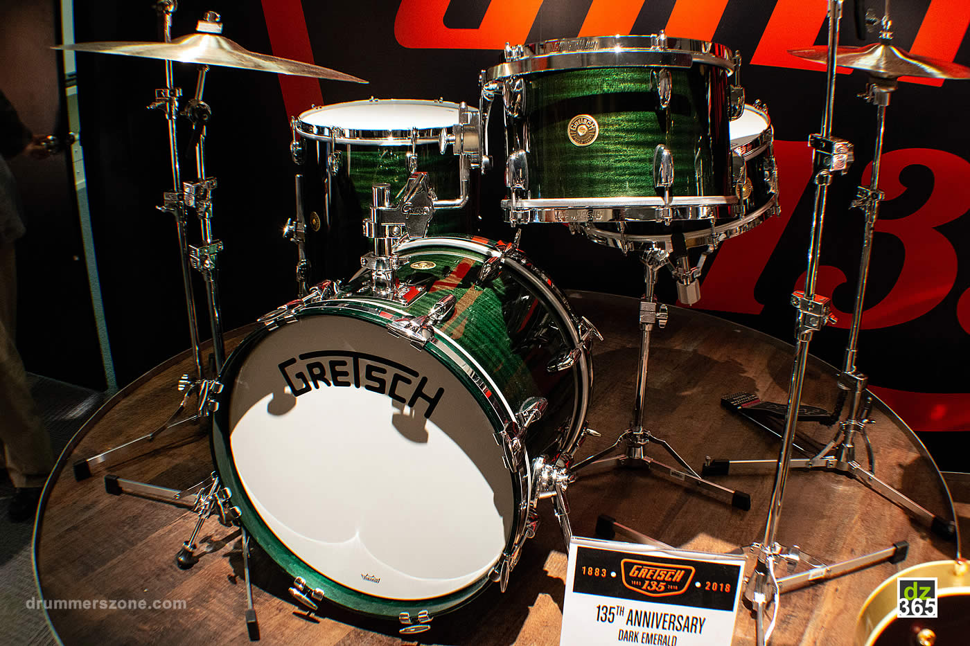 The Dark Emerald Gretsch 135th anniversary kit