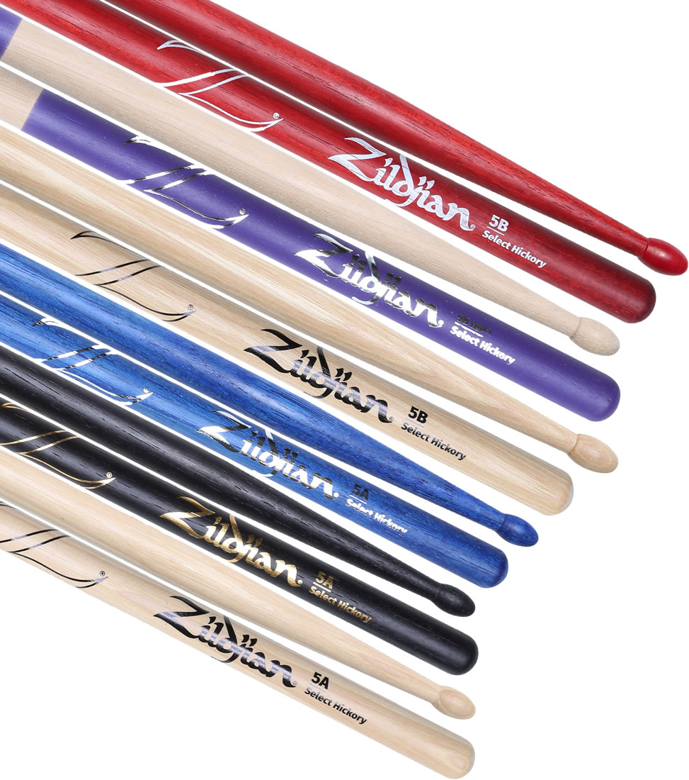 drummerszone news zildjian 39 s re designed 5a and 5b drumsticks. Black Bedroom Furniture Sets. Home Design Ideas