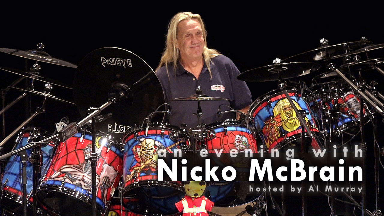An evening with Iron Maiden drummer Nicko McBrain [full show video]