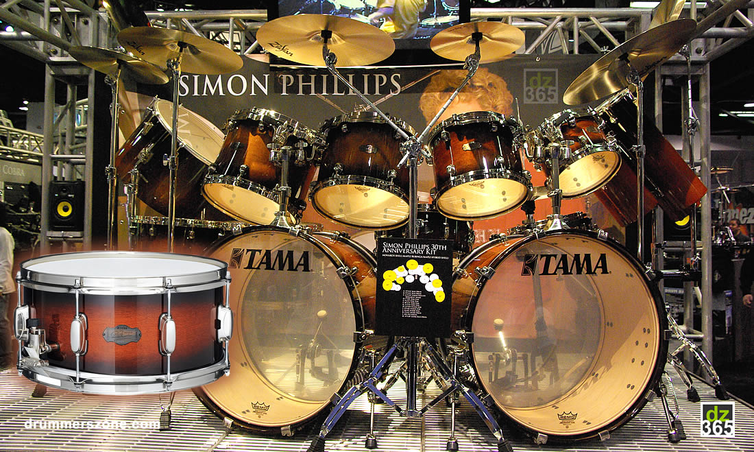 Simon Phillips Signature Tama 30th Anniversary drum kit