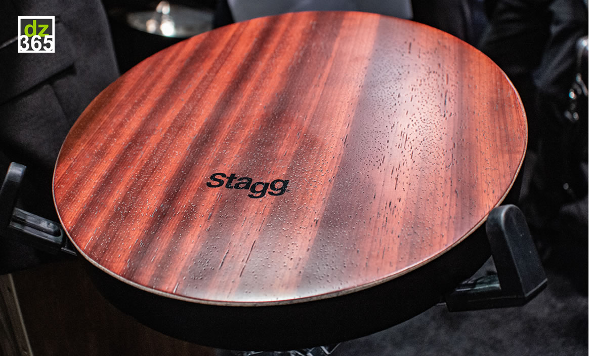 Stagg's Tri-Tone lap cajon is a must have for every artist