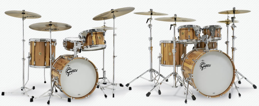 Gretsch Limited Edition Exotic Red Gum Drum Kits
