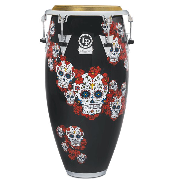 drummerszone news watch the new lp karl perazzo signature sugar skull congas and bongos. Black Bedroom Furniture Sets. Home Design Ideas