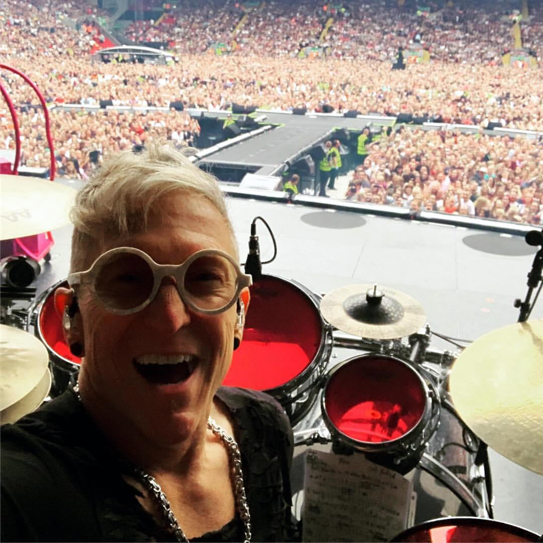 Mark Schulman live in Liverpool with Pink during the Beautiful Trauma World Tour 2019
