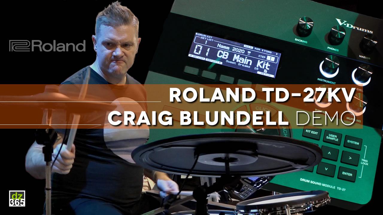 Craig Blundell demos 4 cool Roland TD-27 features