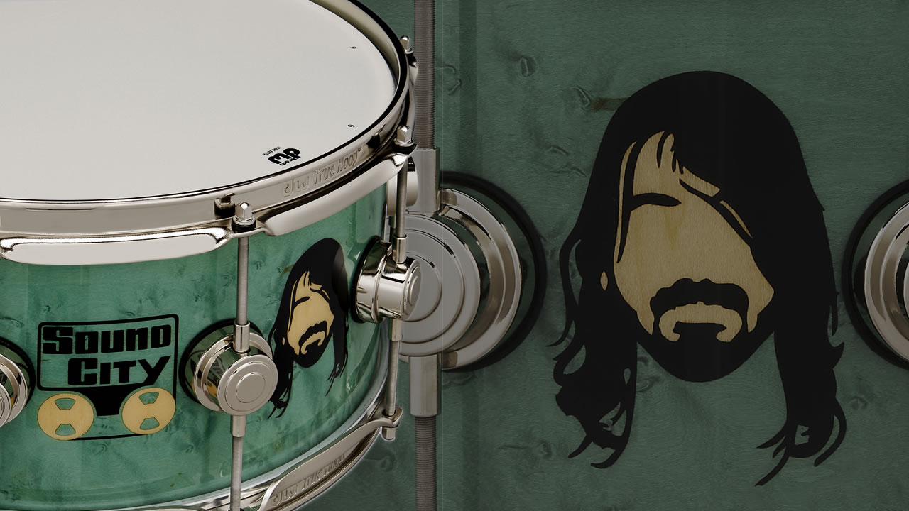 Dave Grohl receives his first signature snare from DW - with video demo