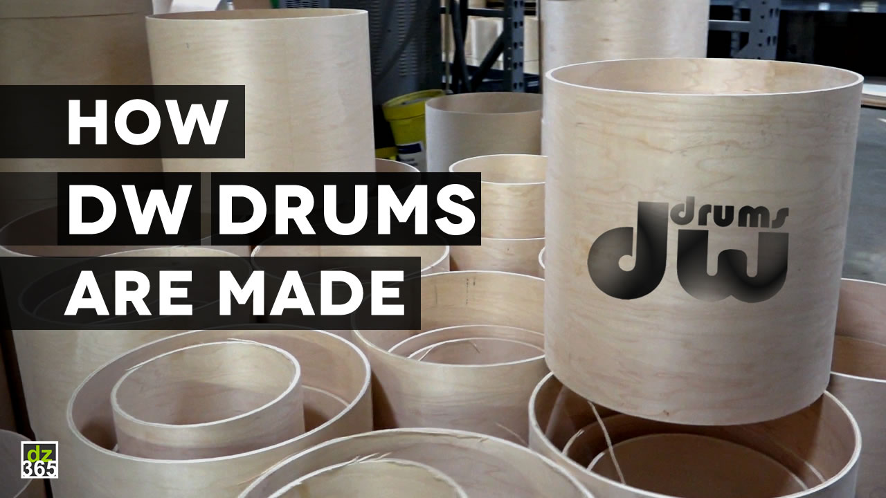 How DW Drums are made: the video factory tour