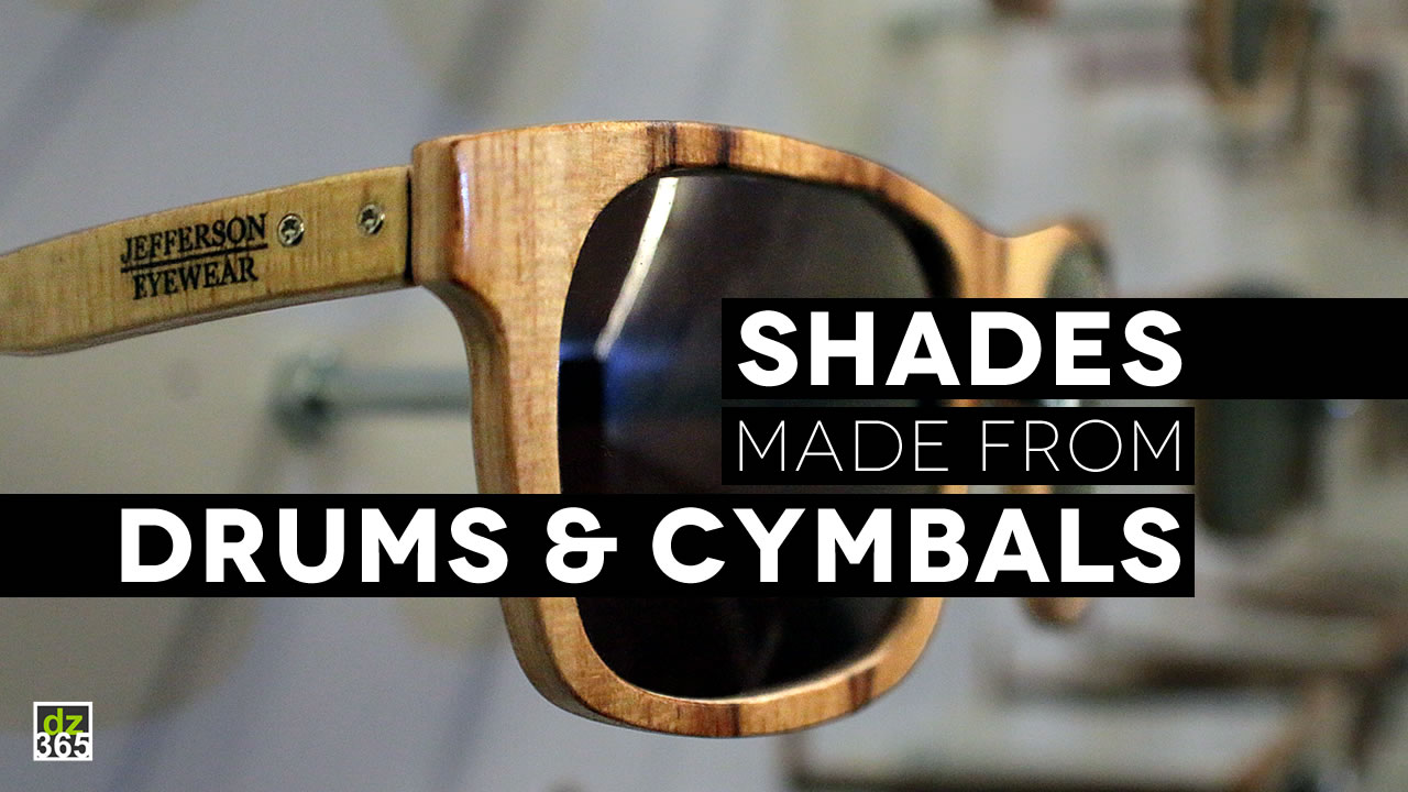 Jefferson Eyewear turns drums and cymbals into the coolest shades