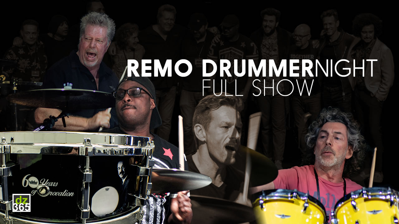 Watch the Full Remo Drummer Night 2017 Show, including Simon Phillips, Thomas Lang and JR Robinson
