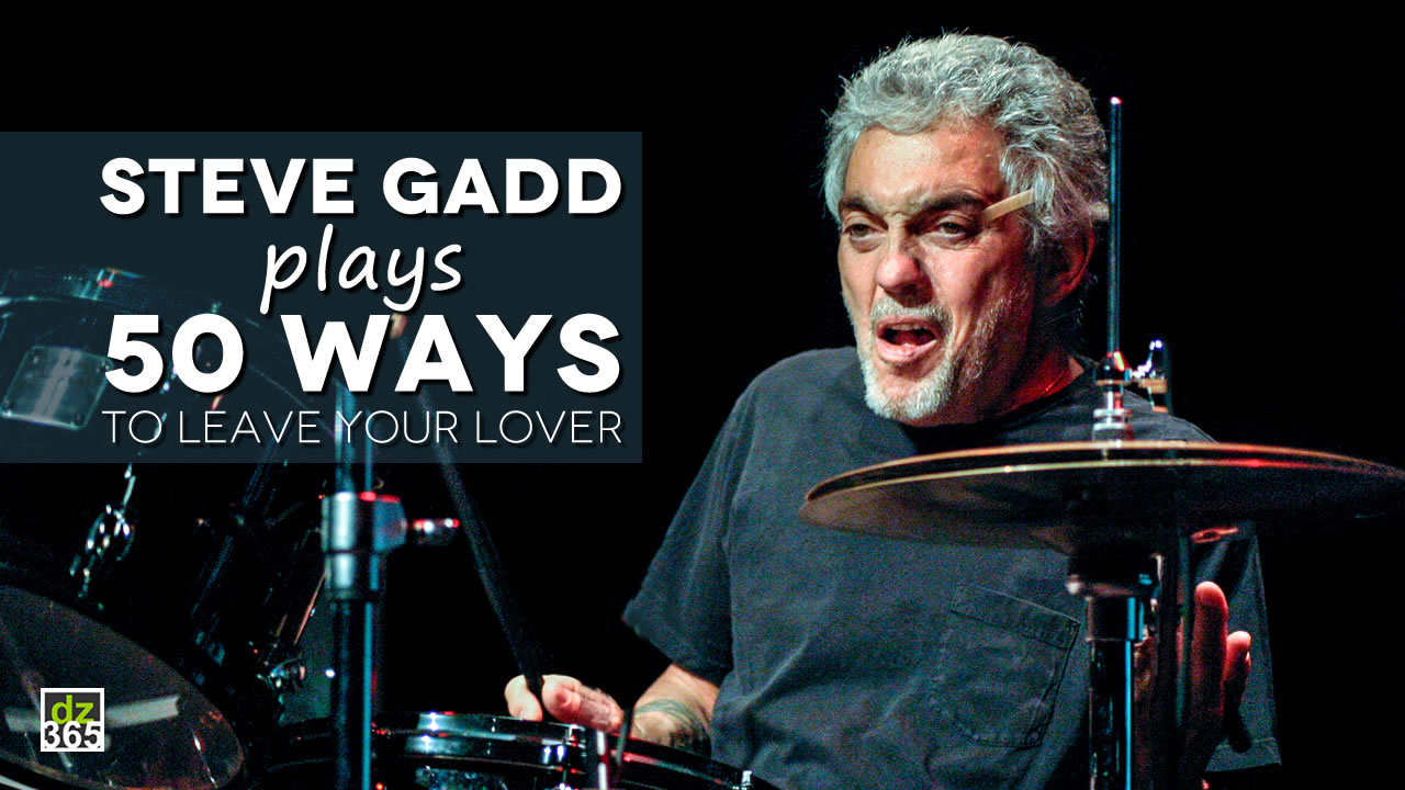 Steve Gadd plays legendary '50 Ways' drum groove