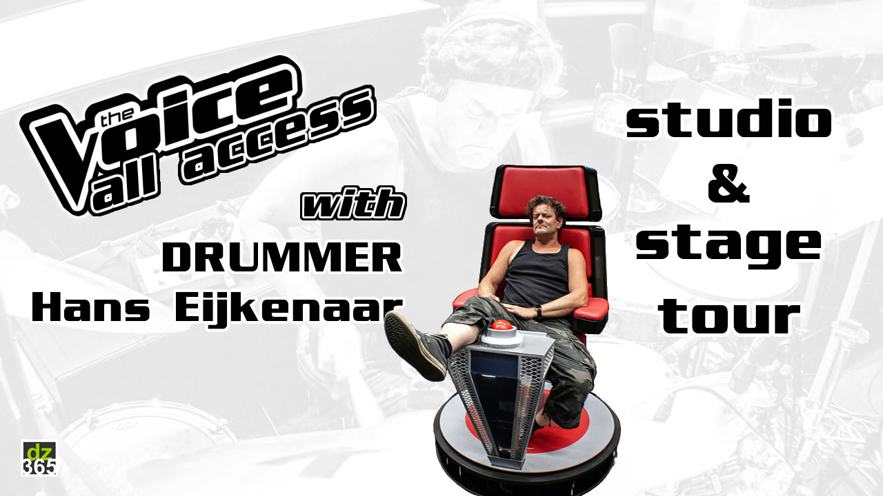 The Voice All Access: Studio and Stage Tour with drummer Hans Eijkenaar