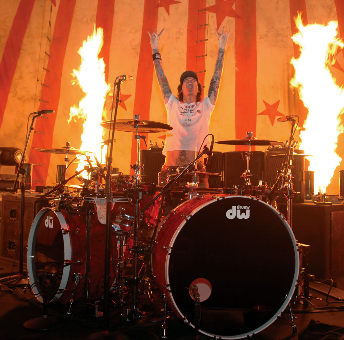 Mötley Crüe's drummer Tommy Lee is back with DW drums